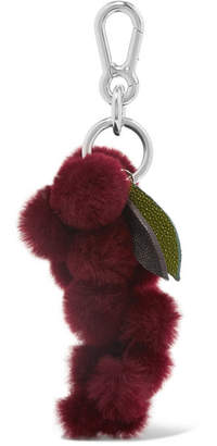 Autumn Cph - Stingray-trimmed Shearling Keychain - Purple