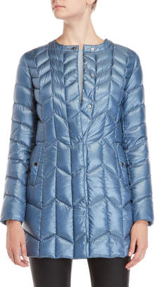 Via Spiga Packable Chevron Quilted Jacket