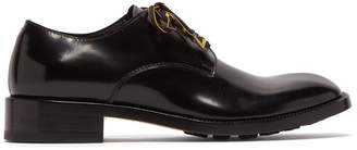 Maison Margiela Contrast-laces patent-leather derby shoes