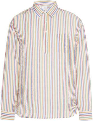 Onia Martin Striped Seersucker Shirt