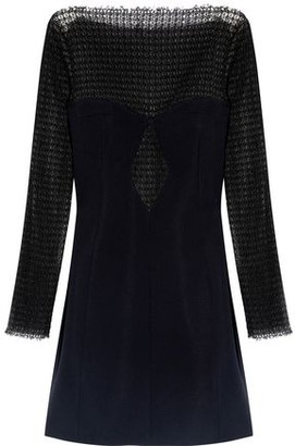 Alexander Wang Open Knit-Paneled Crepe Mini Dress