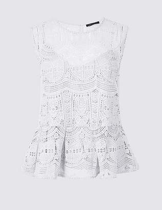 Marks and Spencer Lace Round Neck Shell Top