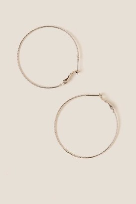 francesca's Madison Textured Hoops In Silver - Silver