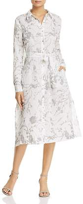 T Tahari Millie Floral-Print Midi Shirt Dress