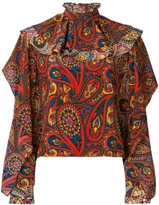 J.W.Anderson paisley print ruffle neck blouse