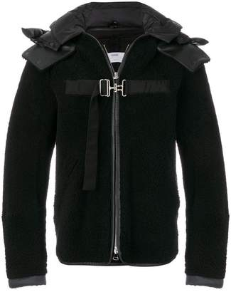 Oamc strapped hooded jacket