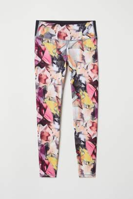 H&M Yoga Tights Shaping waist - Pink