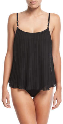 Luxe by Lisa Vogel Plisse Soft Cup Sway Tankini Swim Top