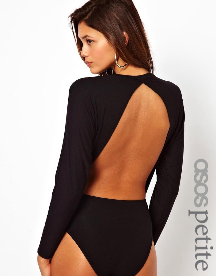 Asos Body With Open Back And Batwing Sleeve