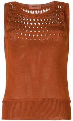 Missoni cut out detail fine knit sweater