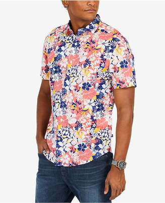 Nautica Men's Floral Classic Fit Short Sleeve Shirt
