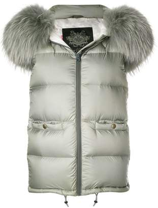Mr & Mrs Italy trimmed hooded vest