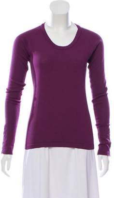 Burberry Long Sleeve Knit Sweater Violet Long Sleeve Knit Sweater