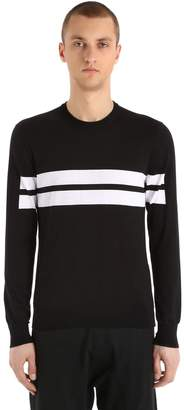 Neil Barrett Stripes Cotton Knit Sweater