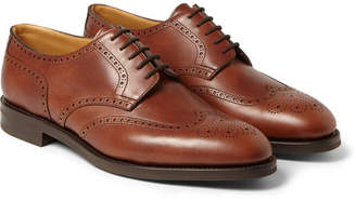 John Lobb Darby II Leather Wingtip Brogues - Brown