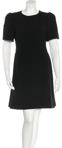 prada Prada Wool A-Line Dress