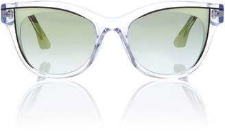 Thierry Lasry Frivolty Acetate Butterfly-Frame Clear Sunglasses