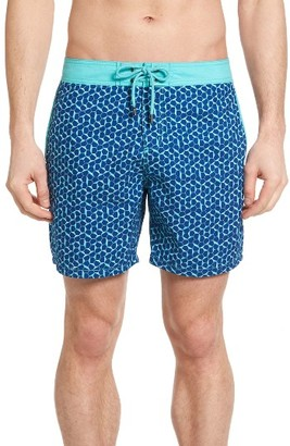 Men's Mr.swim Hex Print Swim Trunks $65 thestylecure.com