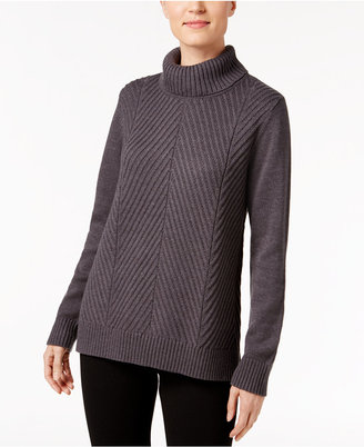 Karen Scott Ribbed Turtleneck Sweater, Only at Macy's $46.50 thestylecure.com