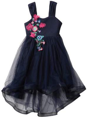 My Michelle mymichelle Embroidered Flower Dress (Big Girls)