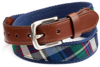 Chaps Boys Plaid Web Belt
