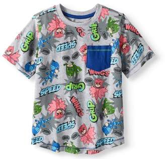 PJ Masks Boys' All Over Print Pocket T-Shirt