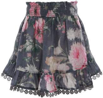 Zimmermann Iris Shirred Skirt