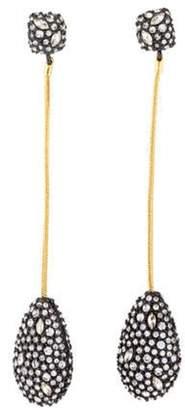 Alexis Bittar Crystal Teardrop Drop Earrings Gold Crystal Teardrop Drop Earrings