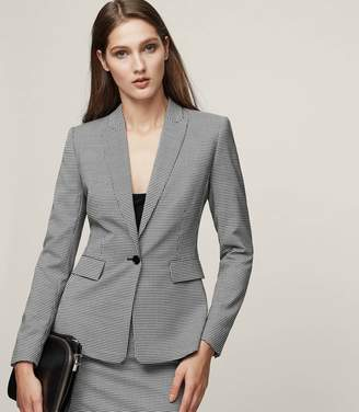 Reiss Mason Jacket Houndstooth Single-Breasted Blazer