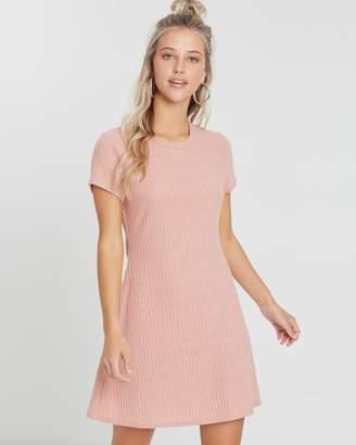 MinkPink Gentle Brushed Rib Mini Dress