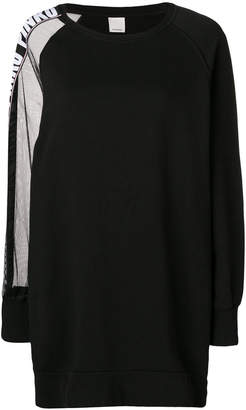 Pinko sheer panel sweatshirt dress
