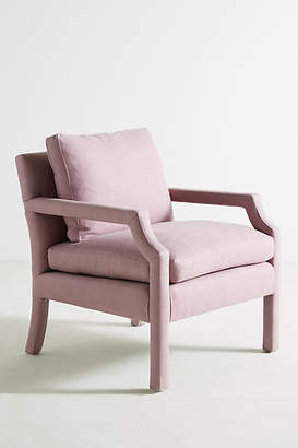 Anthropologie Belgian Linen Delaney Chair