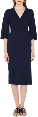 Akris Double Face Wool Blend Dress