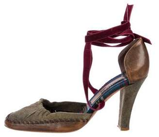 John Galliano Wrap-Around d'Orsay Pumps