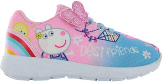 Peppa Pig Girls Hook & Loop Sports Trainers Shoes Pumps UK Infant Size 10