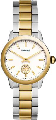 Tory Burch COLLINS WATCH, TWO-TONE GOLD/STAINLESS STEEL IVORY, 32 MM