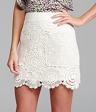 Gianni Bini Shay Crochet Skirt
