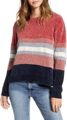 Cotton Emporium Stripe Chenille Sweater
