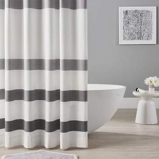 Pottery Barn Teen Organic Huntington Stripe Shower Curtain, White