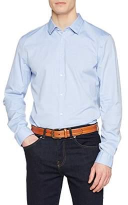 Sisley Men's Shirt Plain Not Applicable Regular Fit Long Sleeve Casual Shirt,(Manufacturer Size: 45)