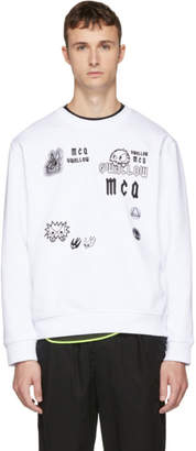 McQ White Swallow Big Sweatshirt