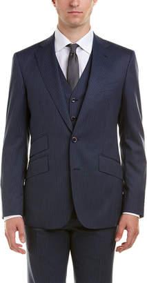 Robert Graham Wool Suit With Vest Flat Front Pant