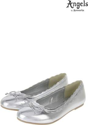 Next Girls Angels By Accessorize Silver Scalloped Edge Ballerina