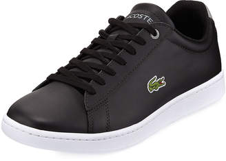 Lacoste Hydez Leather Sneaker, Black/Gray