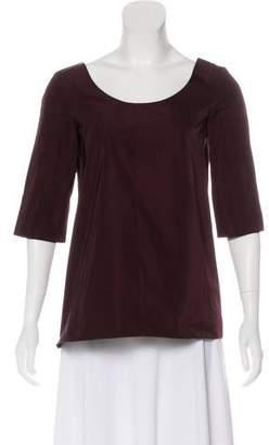 Marni Bateau Neck Short Sleeve Top