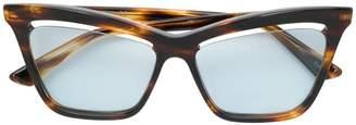 McQ Eyewear cutaway lens cat eye glasses
