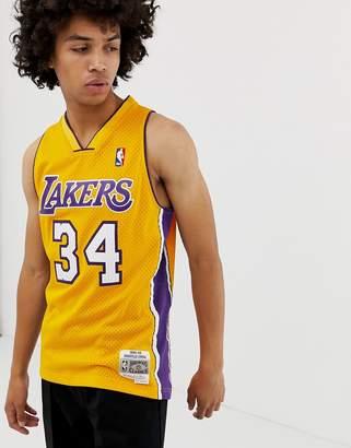 Mitchell & Ness LA Lakers shaquille o'neal swingman tank in yellow