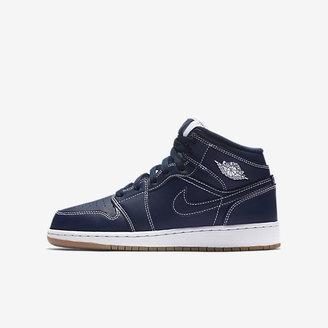 Air Jordan 1 Mid Big Kids' Shoe $85 thestylecure.com