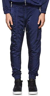 Filling Pieces MEN'S TECH-SATIN ANKLE-ZIP JOGGER PANTS - NAVY SIZE S