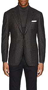 Kiton Men's KB Checked Cashmere Two-Button Sportcoat-Gray